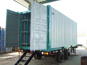 Storage Container with Racks & trolley